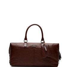 Tiger Leather Holdall