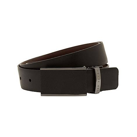 Twill Reversible Leather Belt, ${color}