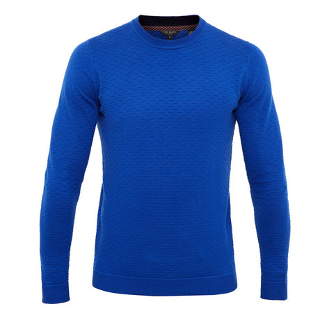 Rettop Textured Crew Neck Knit, ${color}
