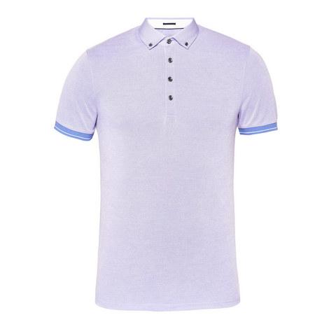 Branin Contrast Polo Collar Shirt, ${color}