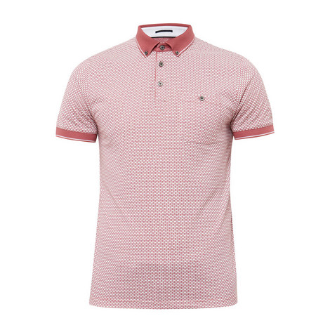 Enders Geo-Print Polo Shirt, ${color}