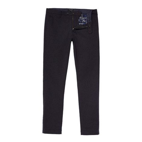 Maxchi Slim Fit Textured Trousers, ${color}