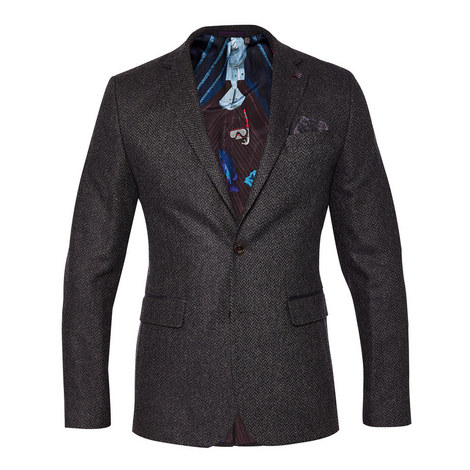 Glen Single-Breasted Wool Blazer, ${color}