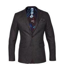 Glen Single-Breasted Wool Blazer