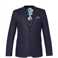 Glen Single-Breasted Wool Blazer