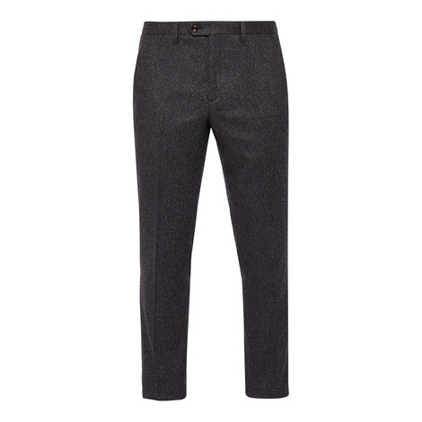 Glentro Herringbone Wool Trousers, ${color}