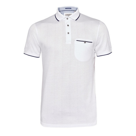 Square Herringbone Jacquard Polo, ${color}