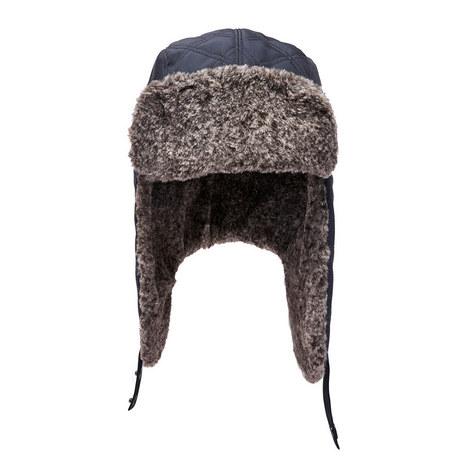 Beardy Faux Fur Trapper Hat, ${color}
