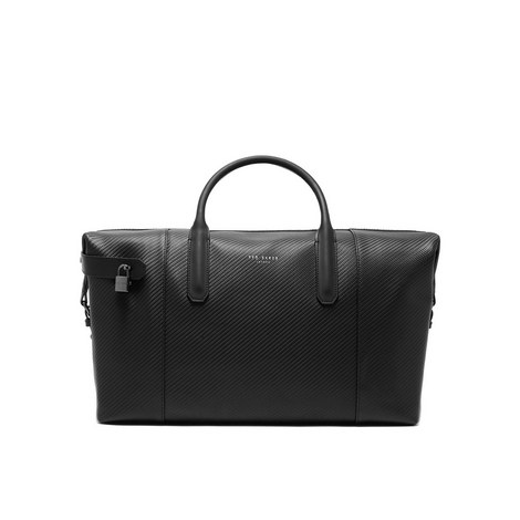Novana Large Woven Leather Holdall, ${color}