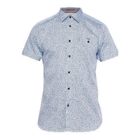 Rems White Noise Short-Sleeved Shirt, ${color}