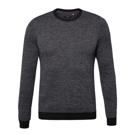 Cinamon Stitched Crew Neck Knit, ${color}