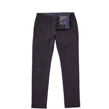 Simplez Print Cuff Straight Fit Jeans