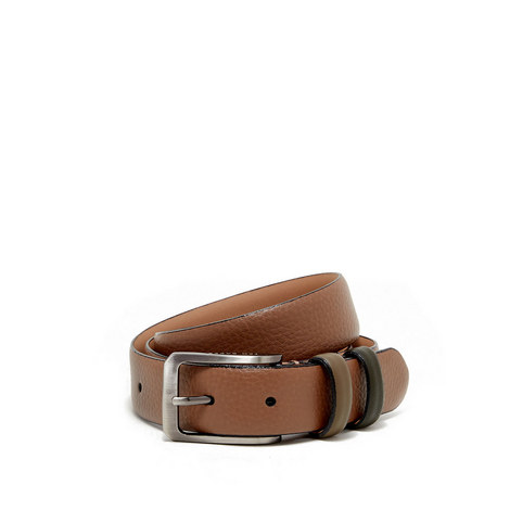Shrubs Two-Tone Leather Belt, ${color}