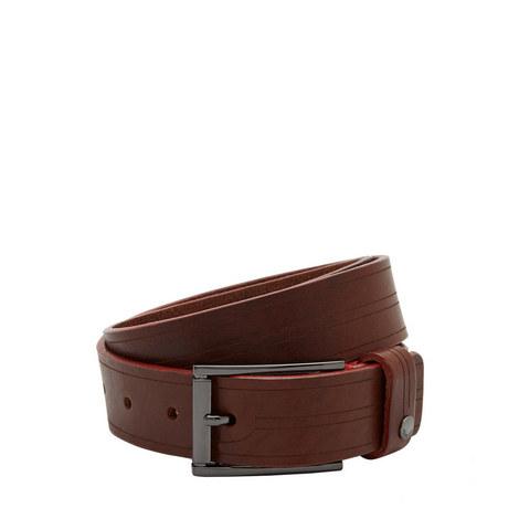 Magno Etched Leather Belt, ${color}