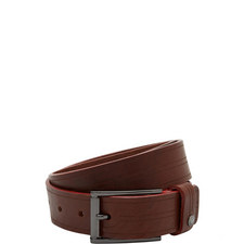 Magno Etched Leather Belt