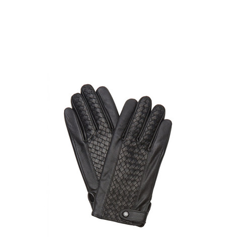 Braid Leather Gloves, ${color}