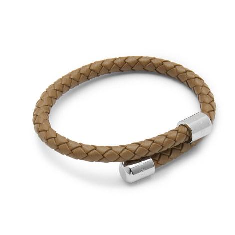 Bassett Braided Leather Bracelet, ${color}