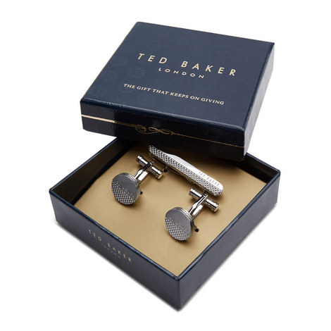 Cufflinks and Tie Bar Gift Set, ${color}