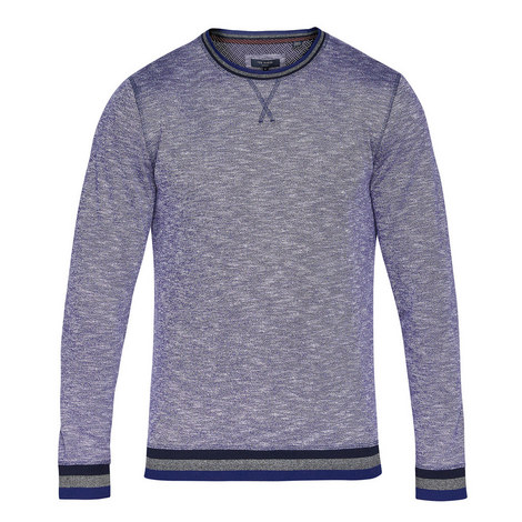 Slater Tipped Crew Neck Sweatshirt, ${color}