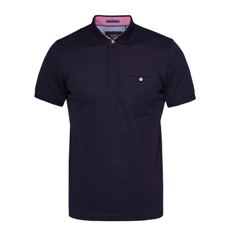 Witnay Textured Polo Shirt, ${color}