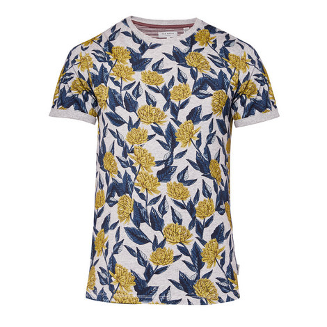 Alfiee Floral Print Crew Neck T-Shirt, ${color}