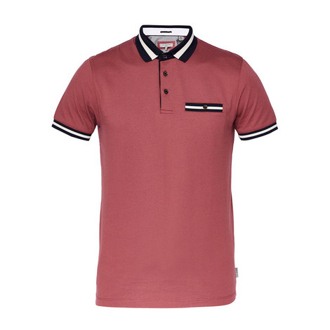 Beeril Stripe Collar Polo Shirt, ${color}