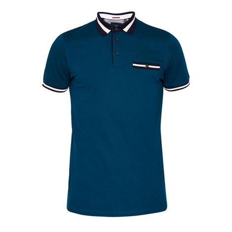 Beeril Stripe Collar Polo Shirt, ${color}