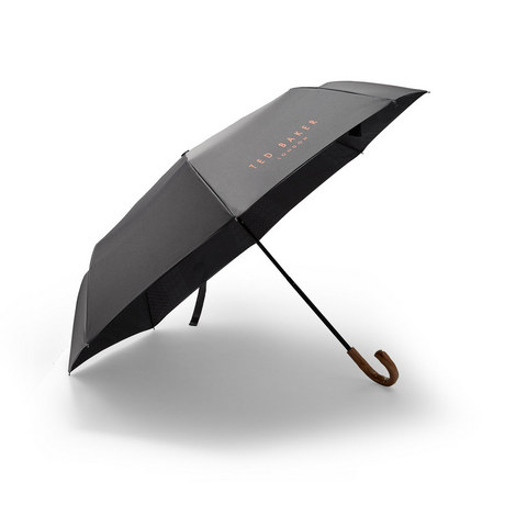 Drizzle Wooden-Handled Umbrella, ${color}
