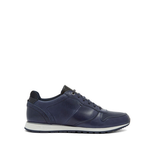 Shindl Two-Tone Leather Trim Trainers, ${color}