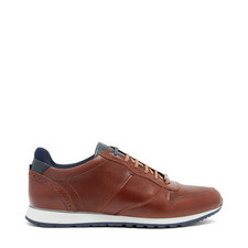 Shindl Two-Tone Leather Trim Trainers