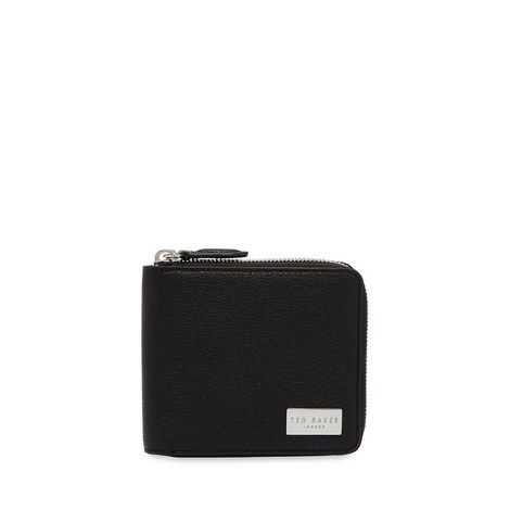 Baits Leather Zip-Around Wallet, ${color}