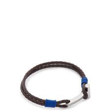 Shrug Knurling Leather Bracelet