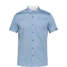 Gudvu Short Sleeve Geometric Print Shirt