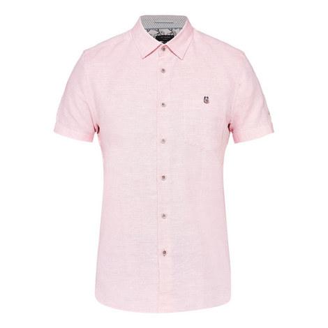 Peeze Two-Tone Linen Shirt, ${color}