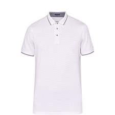 Abot Ss All Over Geo Print Polo