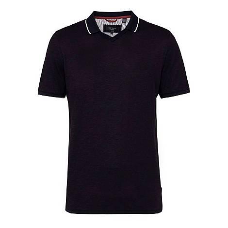 Pom Trophy Neck Polo Shirt, ${color}