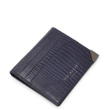 Liztay Lizard-Effect Leather Card Holder
