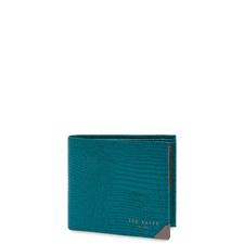 Lizhurl Lizard-Effect Leather Bi-Fold Wallet