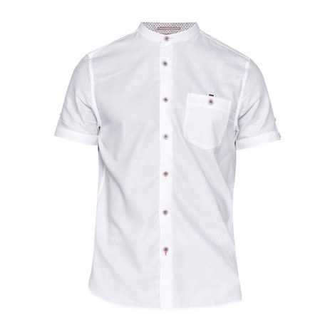 Gowntay Textured Grandad Collar Shirt, ${color}