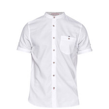 Gowntay Textured Grandad Collar Shirt