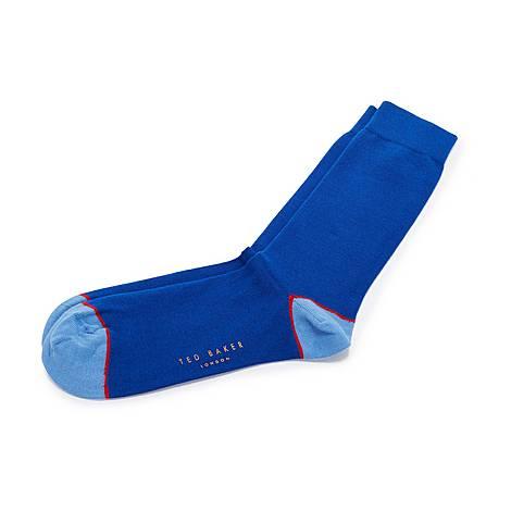 Jack Contrast Trim Cotton Socks, ${color}