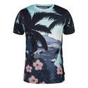 Perdrop Tropical Print T-Shirt, ${color}