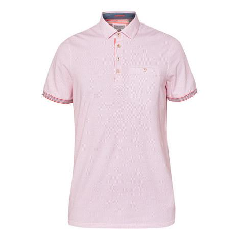 Lemsher Mini Geometric Print Polo Shirt, ${color}