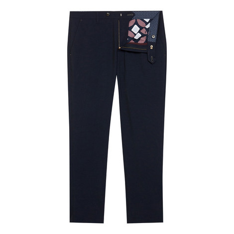 Lotsdot Slim Fit Pin Dot Trousers, ${color}