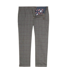 Squared Slim Fit Checked Trousers