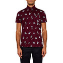 Midge Tropical Print Cotton Polo Shirt, ${color}