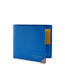 Lobbee Lizard-Effect Bi-Fold Leather Wallet