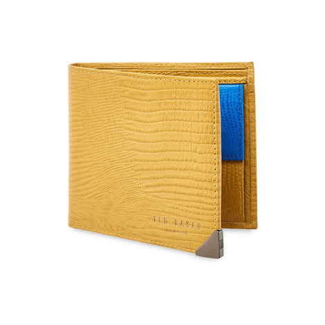 Lobbee Lizard Bifold Wallet With Coin, ${color}