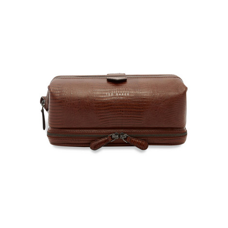 Chocks Exotic Leather Wash Bag, ${color}