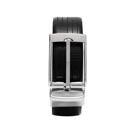 Havier Embossed Reversible Leather Belt, ${color}